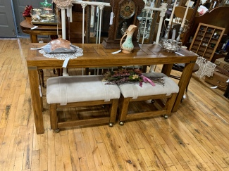 MCM Table w/Rolling Stools